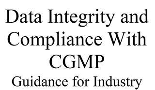 REG 0009 Data Integrity Assessments